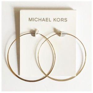 Michael Kors Gold Tone Hoop Earrings